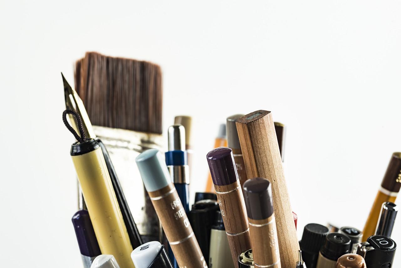 pens, brushes, art materials-1867899.jpg